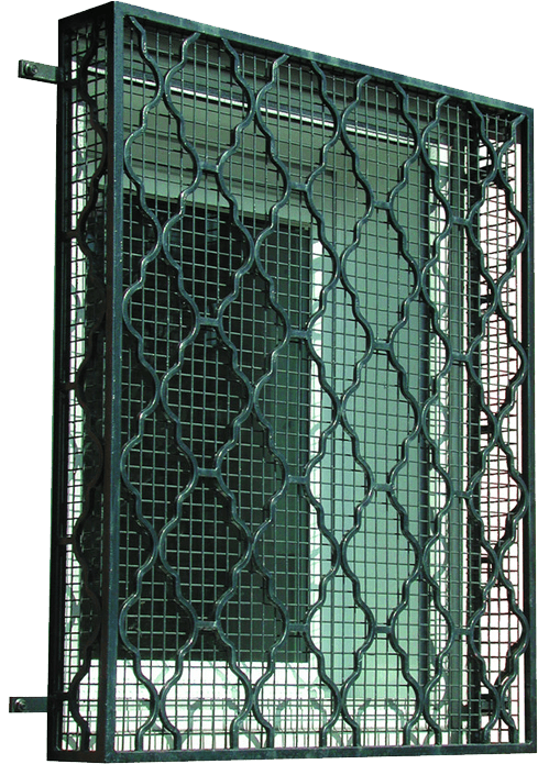 Transparent grill nice window. High quality security grilles