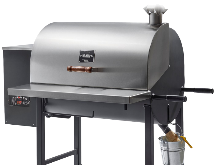 Transparent grill smoker. Pitts spitts the best