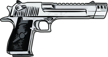 Transparent guns desert eagle. Pistol woingear