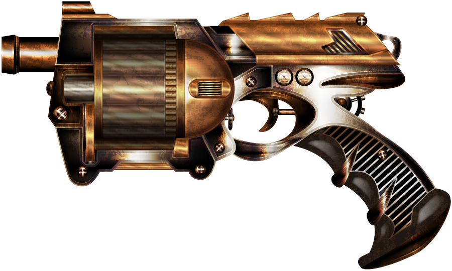 transparent rifle steampunk