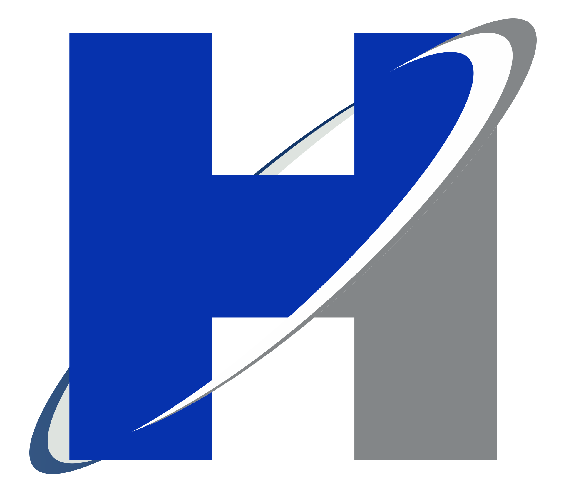 Transparent h logos. Blue