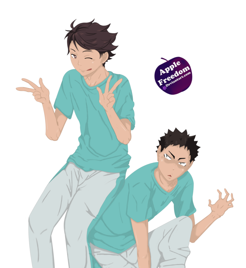 Transparent haikyuu iwaizumi. Oikawa and render by