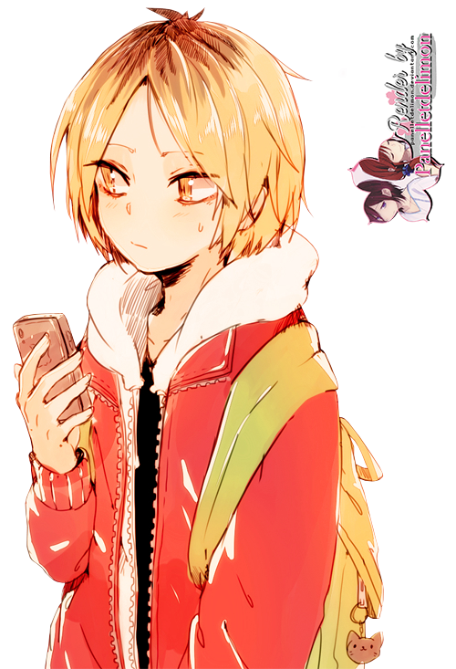Transparent haikyuu kozume. Render kenma by panelletdelimon