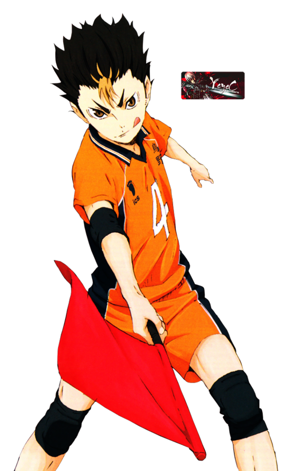 Transparent haikyuu yuu. Nishinoya render by yeyec