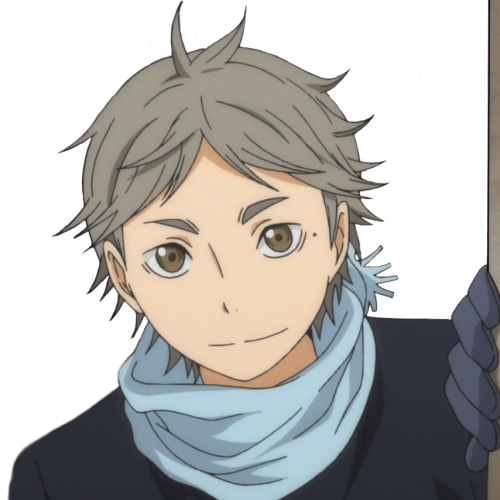 transparent haikyuu sugawara