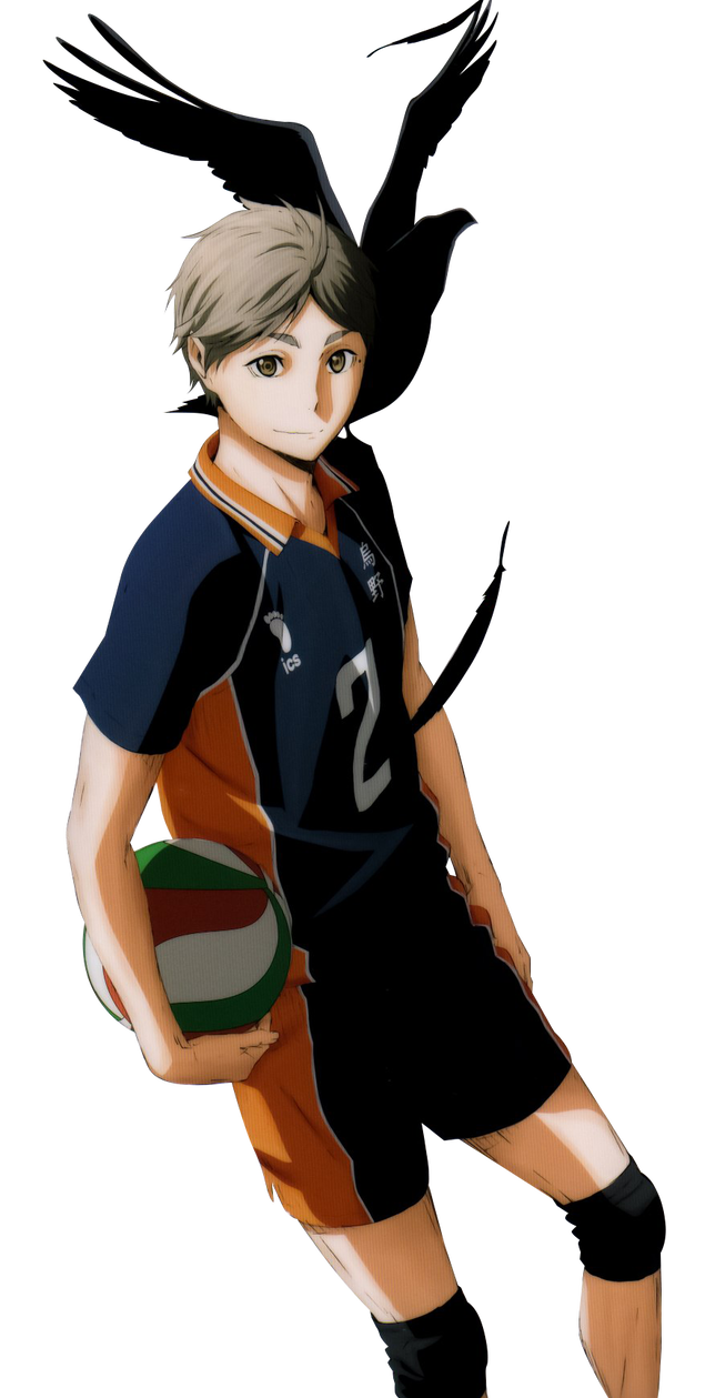 Transparent haikyuu sugawara koushi. Render by lopmonify on