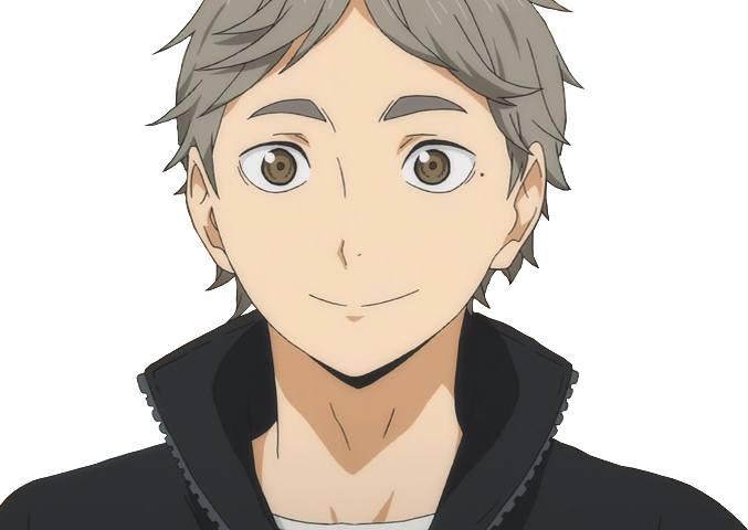 Transparent haikyuu sugawara koushi. Bird seed and catnip
