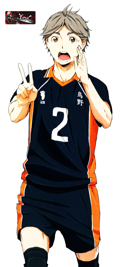 Transparent haikyuu sugawara koushi. Render by yeyec on