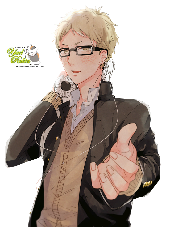 Transparent haikyuu tsukishima kei. Render by yaelrukia on