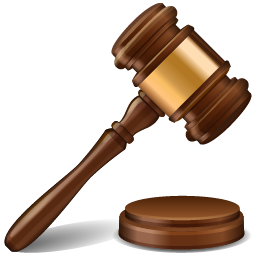 Transparent hammer jury. Auction icon free download