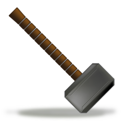 Transparent hammer thores. Thor png dlpng icon
