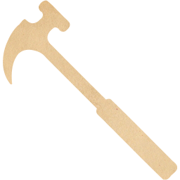 Transparent hammer vintage. Paper icon free icons