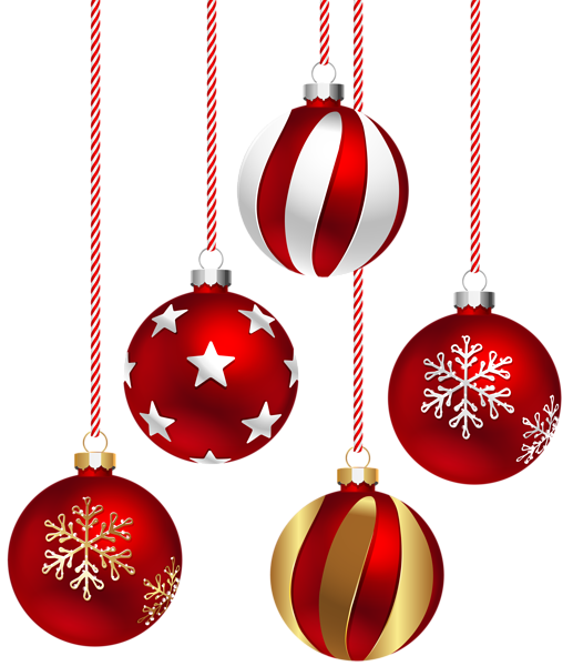 Transparent hanging christmas ornaments png. Balls image new year