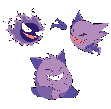 Pokemon gastly ghost gengar. Transparent haunter jpg black and white stock