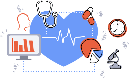 Transparent healthcare. Clipart library stock