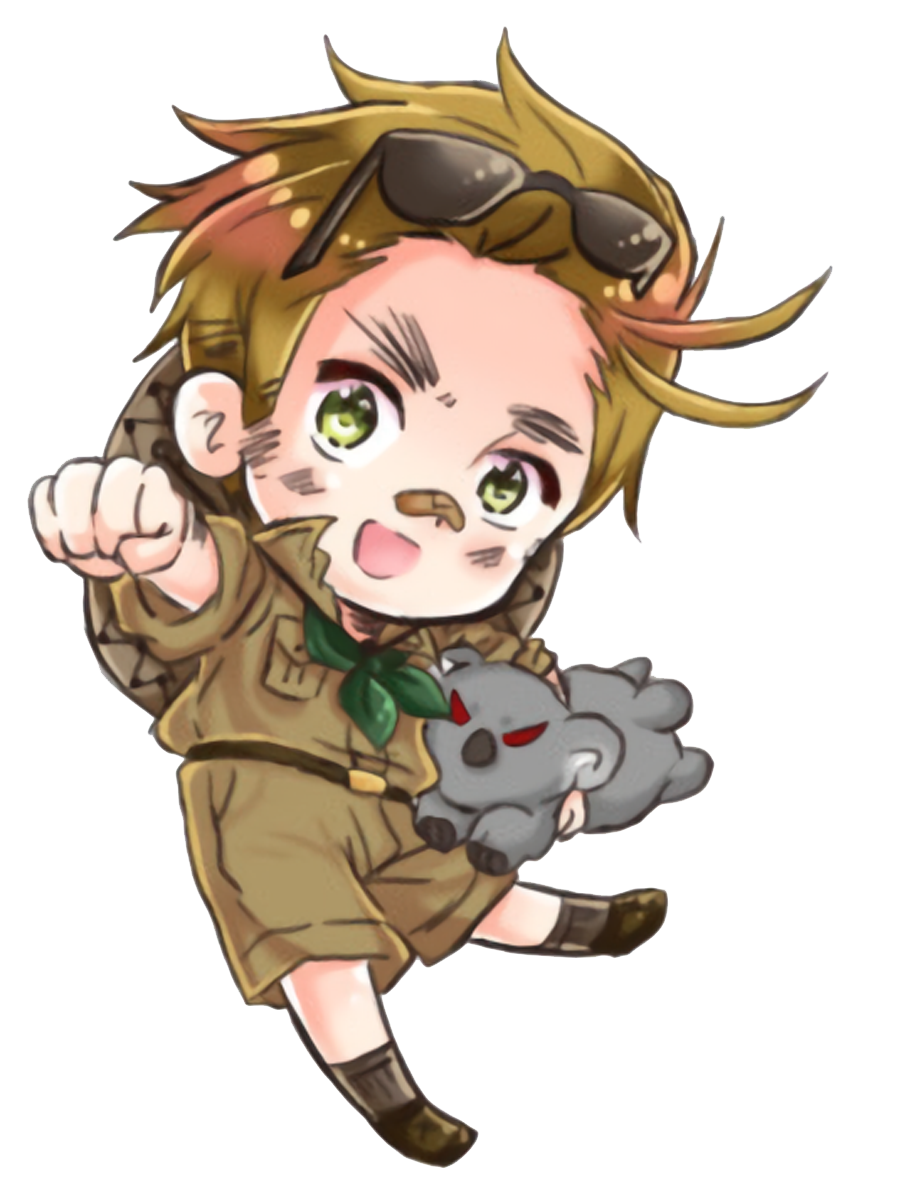 Australia transparent out. Hetalia by aphaustralia