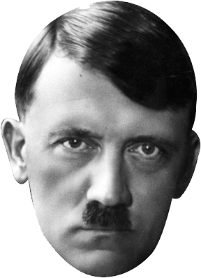 Transparent hitler black and white. Png image web icons