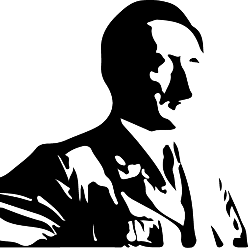 Transparent hitler silhouette. Zodiac project picture of