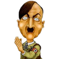 Transparent hitler sticker. The newest stickers on