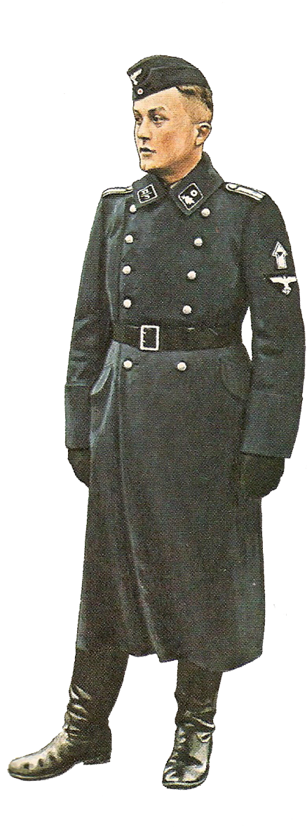 Transparent hitler trench coat. German army technical energency