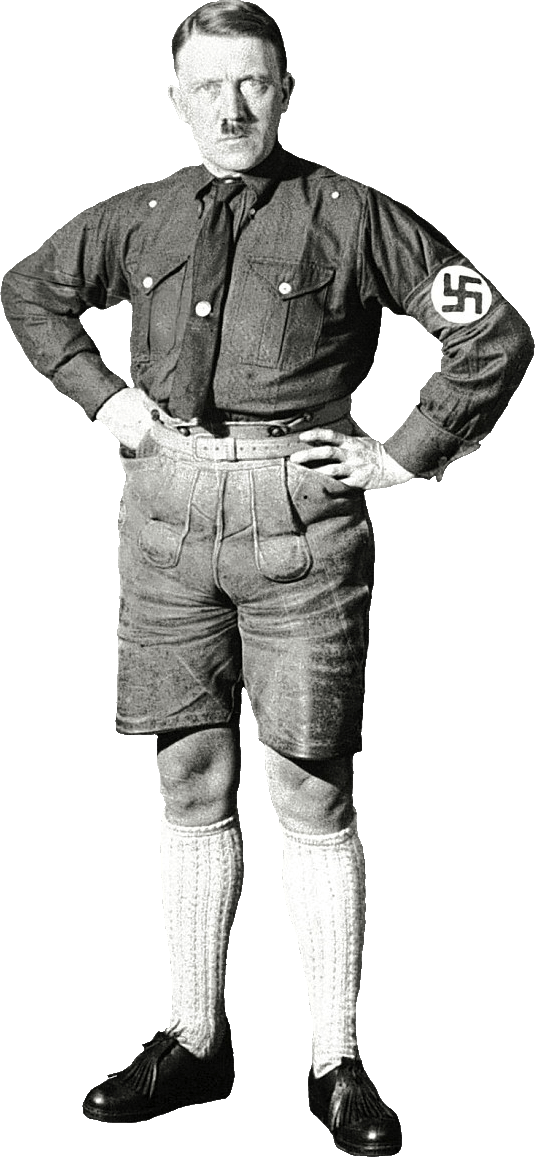 Transparent hitler white. With shorts png stickpng