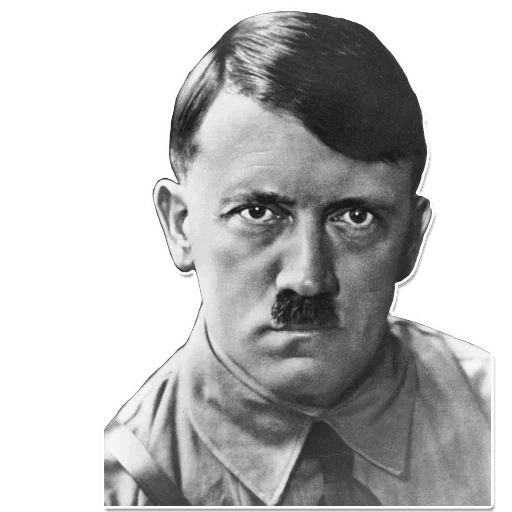 Transparent hitler white. Stickers set for telegram