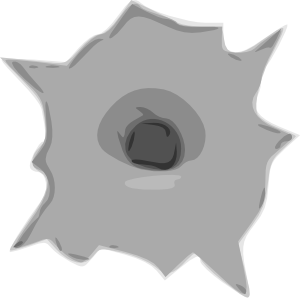 Transparent hole animated. Bullet clip art at