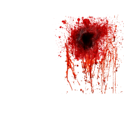 Transparent hole blood bullet. By weentee spreadshirt