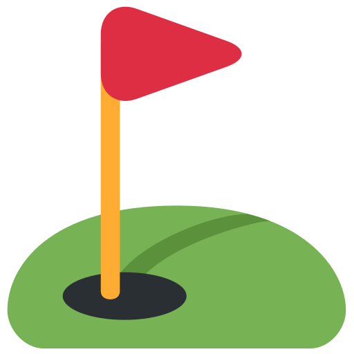 Svg flags golf. Flag in hole