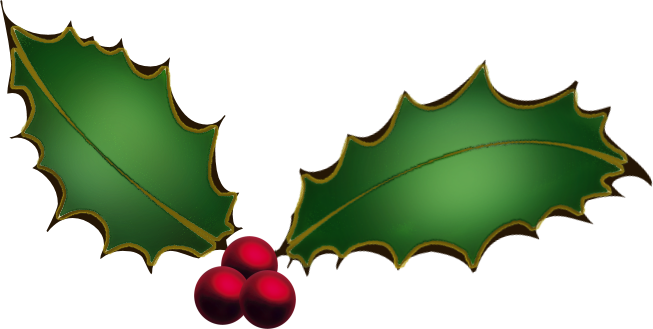 Transparent holly. And ivy png images
