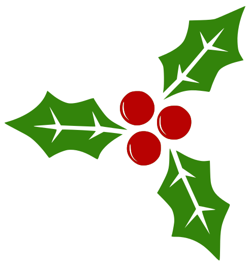 Transparent holly berries. Chistmasify your website per
