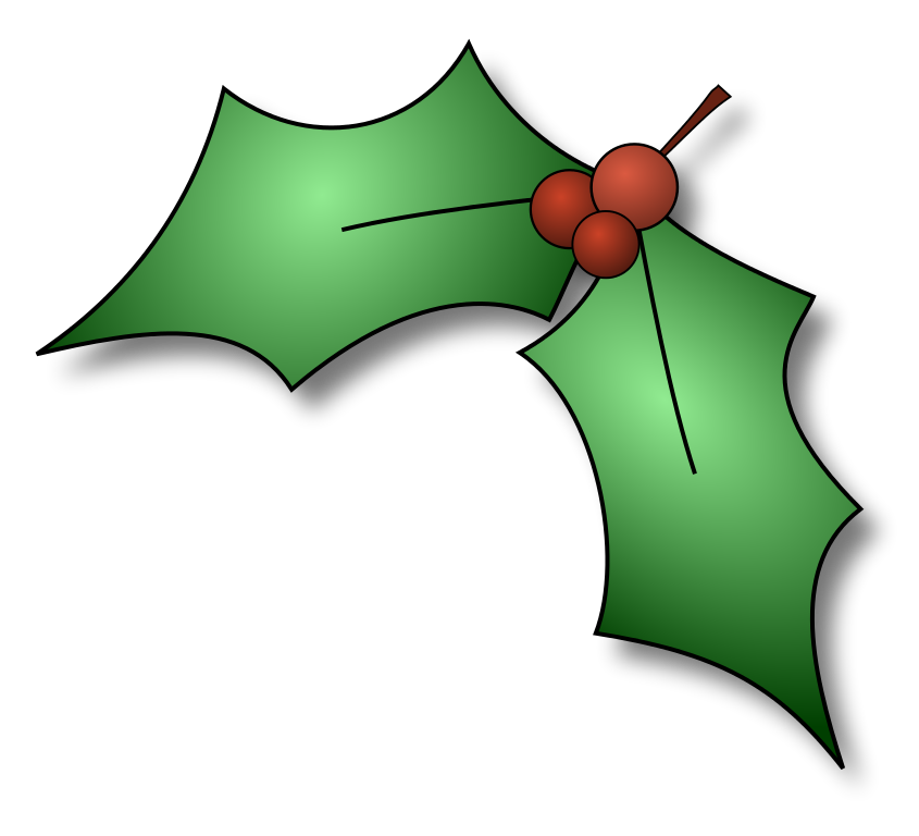 Christmas clipart holly. File cfry svg wikimedia