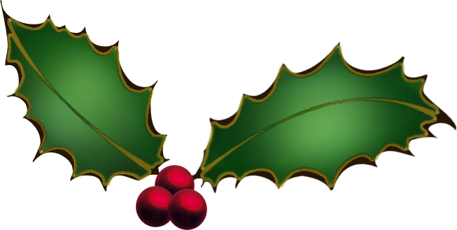 Transparent holly old fashioned. Christmas clip library