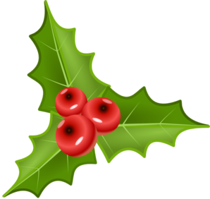 Transparent holly public domain. With berries clip art