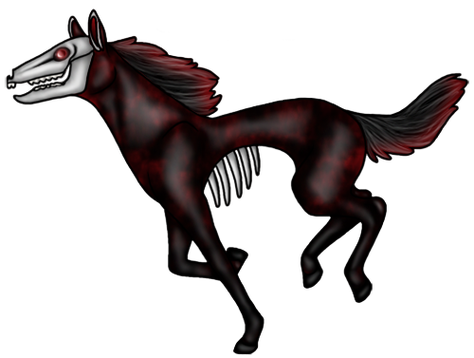 Transparent horses nightmare. Urban legends there are