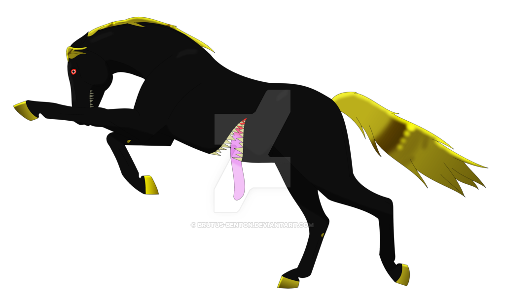 Transparent horses nightmare. Horse fnaf by armoredwings