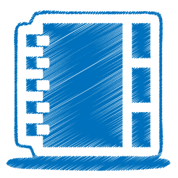 J transparent origami. Blue address book icon
