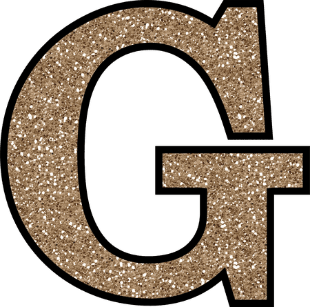 Transparent g big letter. Free glitter alphabet to