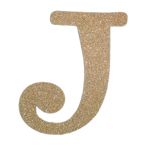 Transparent j sparkly. Product tags glitter letter