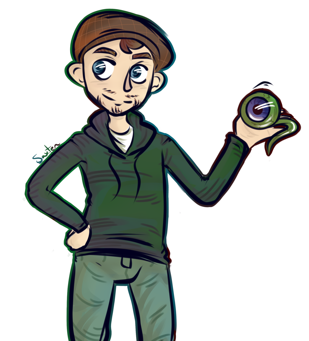 Transparent jacksepticeye teddy. Sketch thing by saxten