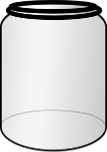 Transparent jar animated. Collection of clipart