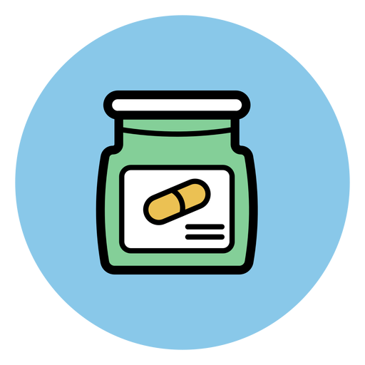 Transparent jar pill. Icon png svg vector
