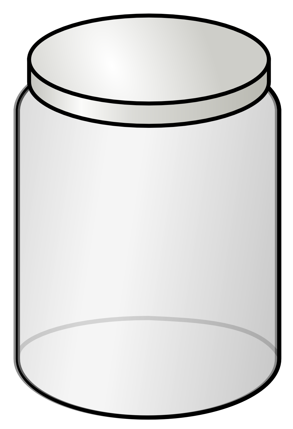 Transparent jar vector. Collection of free ebbed
