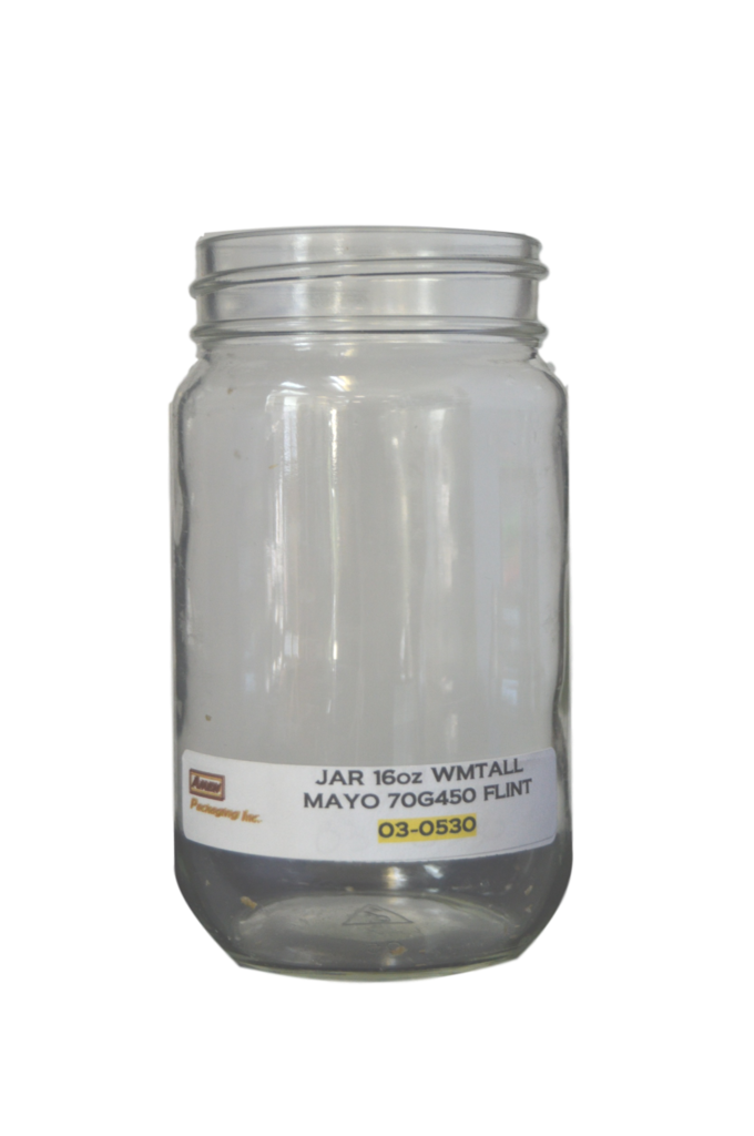 Transparent jar wide. Oz mouth mayo