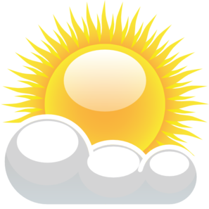 Partly clipart partly cloudy. Collection of transparent