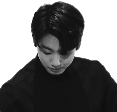 Transparent jungkook black and white. Looks nice in
