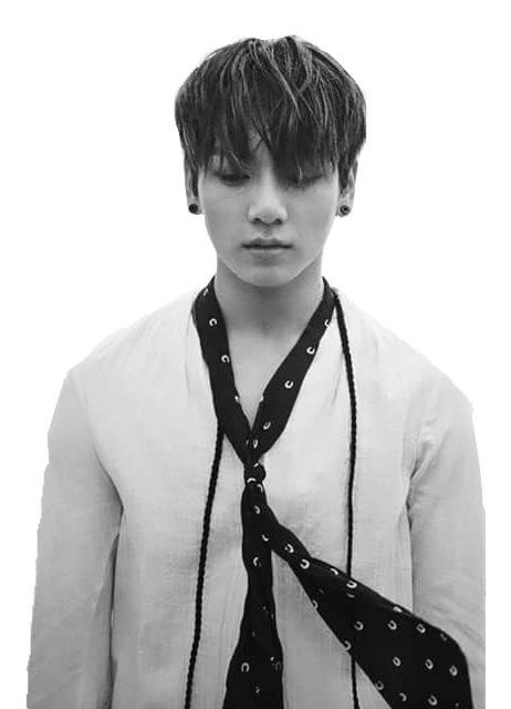 Transparent jungkook black and white. Bts png by abagil