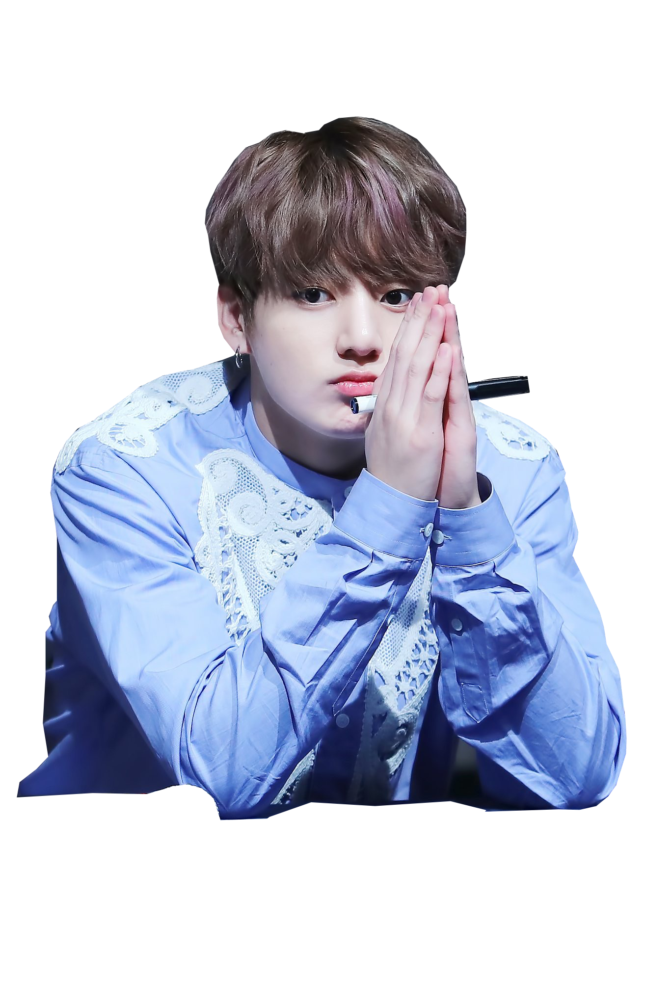 Transparent jungkook blue. Bts live trilogy episode