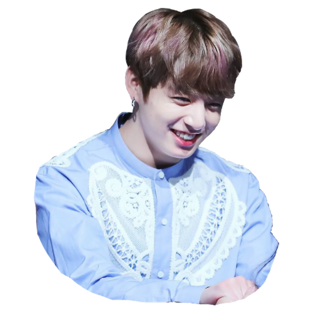 Transparent jungkook blue. Bts btsjungkook smile remixit