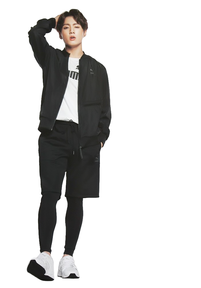 Transparent jungkook standing. Bts render png by
